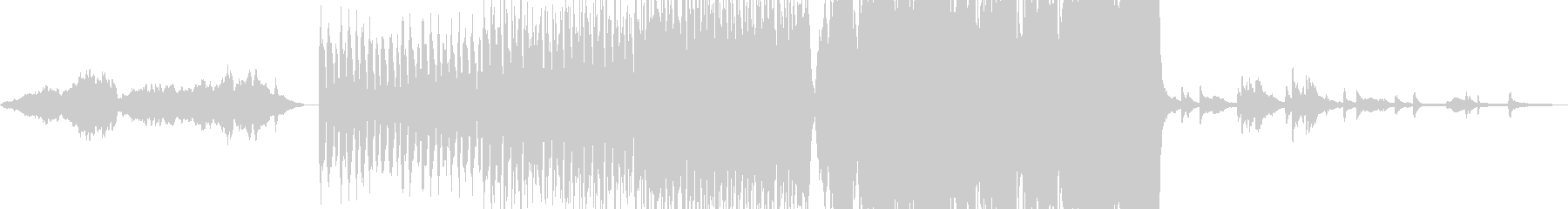 マイナー調の重厚なオーケストラの未再生の波形
