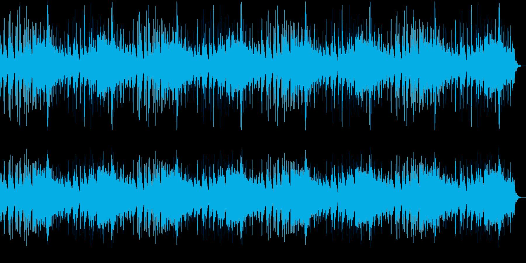 美しく悲しい旋律のピアノの曲の再生済みの波形