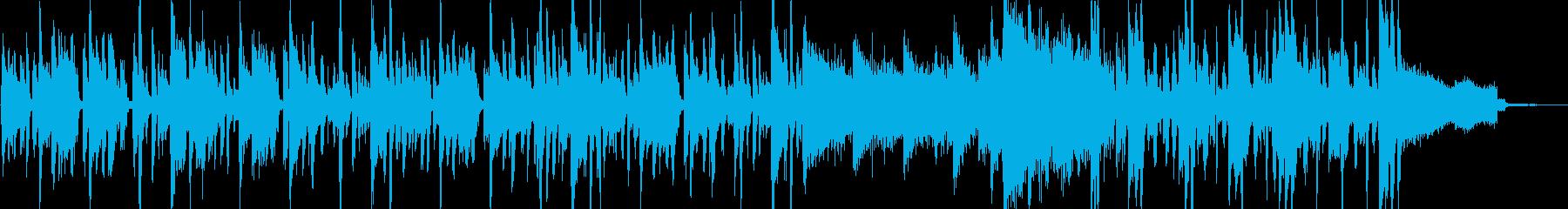 急いでいる様なコミカルな曲の再生済みの波形
