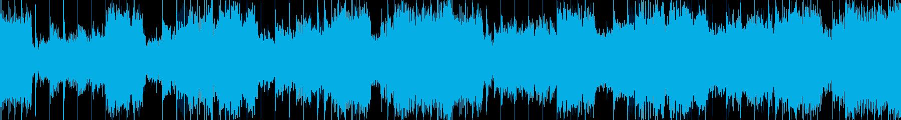 攻撃的なヘビーEギター+デジタルサウンドの再生済みの波形