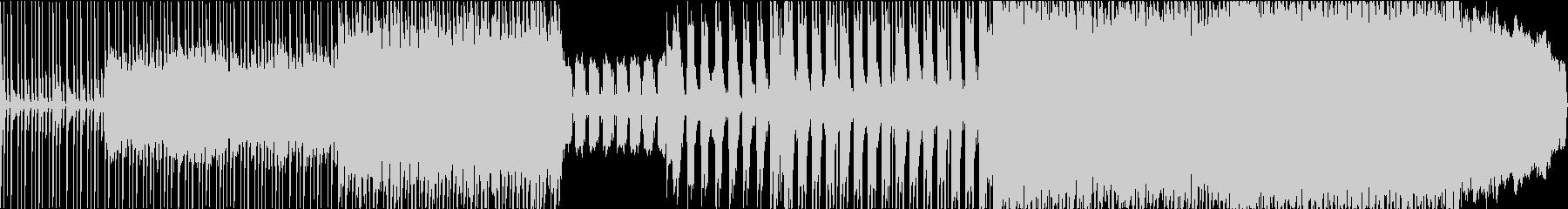 疾走感のあるバンドピースのロックサウンドの未再生の波形
