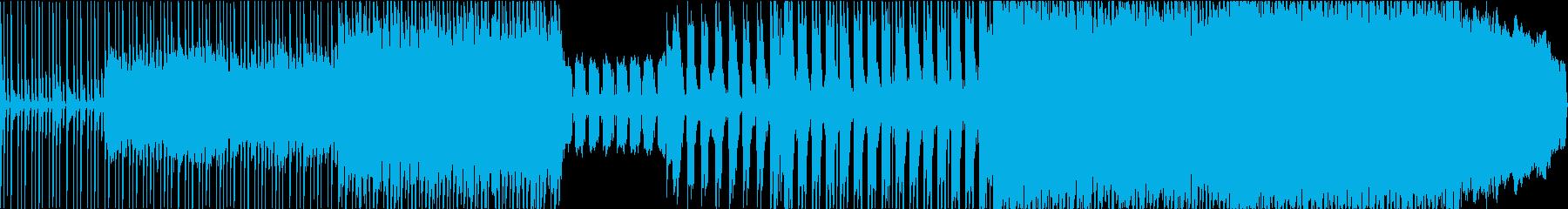 疾走感のあるバンドピースのロックサウンドの再生済みの波形
