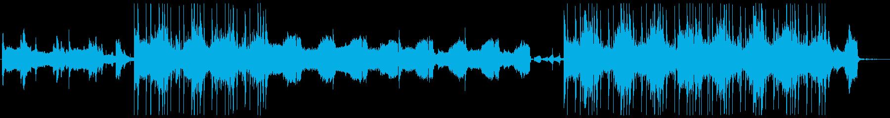 繊細かつ幻想的な雰囲気の前衛的なBGMの再生済みの波形