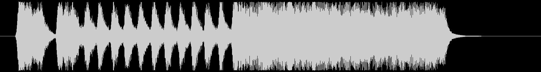 金管4重奏によるシンプルなファンファーレの未再生の波形