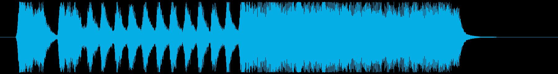 金管4重奏によるシンプルなファンファーレの再生済みの波形