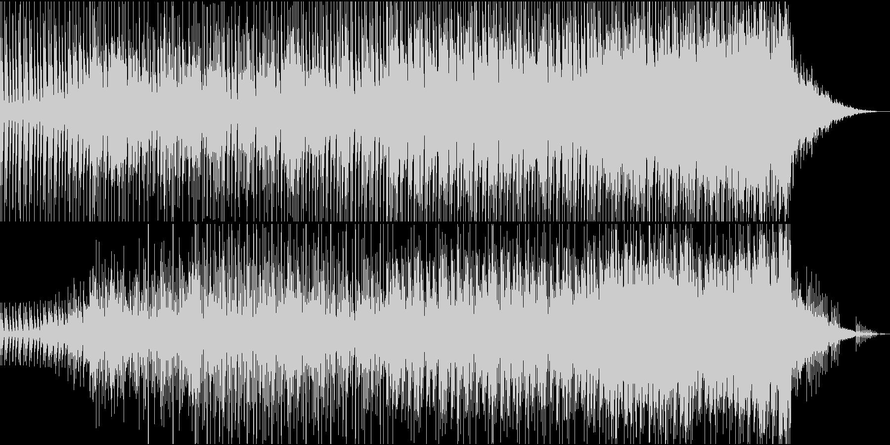 希望に満ちた広がりのあるエレクトロロックの未再生の波形