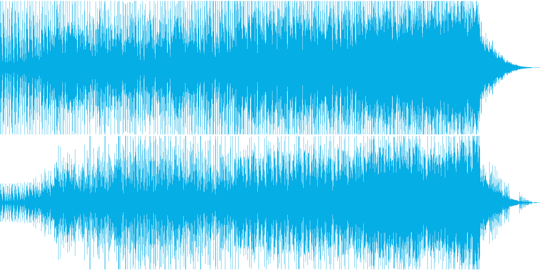 希望に満ちた広がりのあるエレクトロロックの再生済みの波形