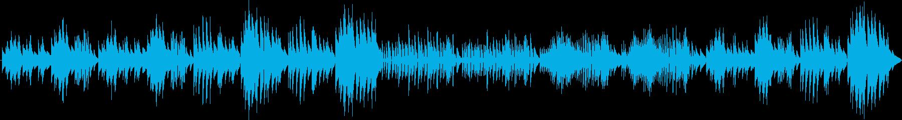 ベートーヴェン メヌエット(ピアノ)の再生済みの波形