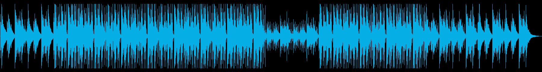 寒い冬をイメージしたLo-Fiビートの再生済みの波形
