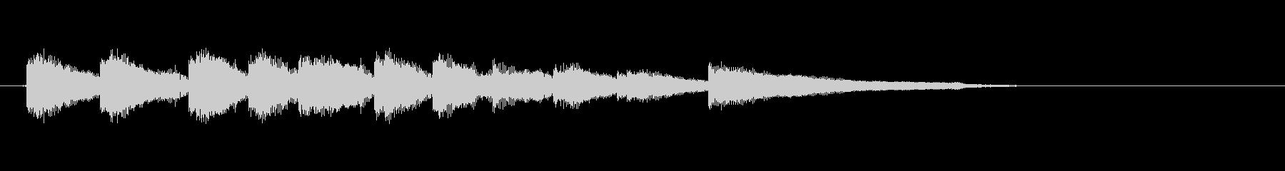 生音エレキギター6弦チューニング1エコーの未再生の波形