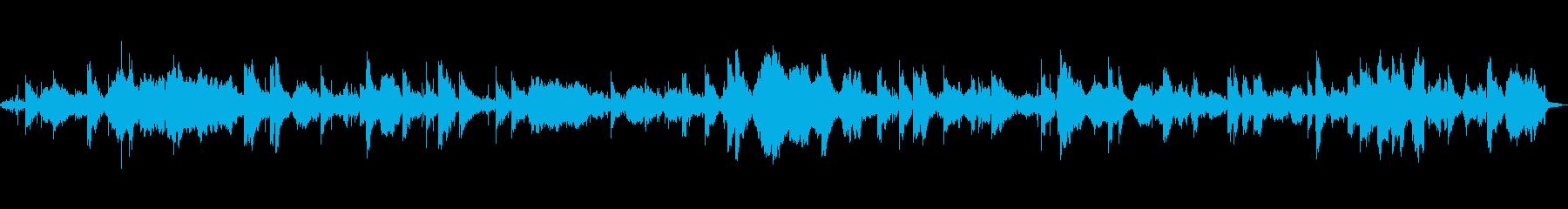 波の音とクリスタルボウルヒーリングの再生済みの波形