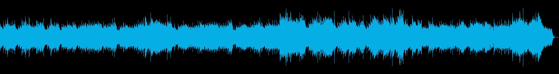 回想シーン・心が癒されるムードBGMの再生済みの波形