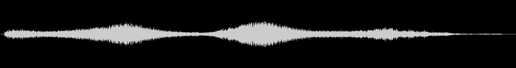しゅいーんの未再生の波形