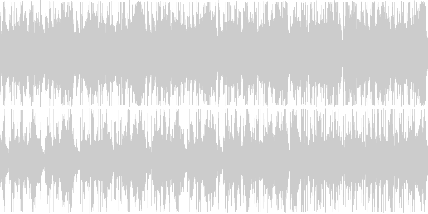 中国風の旋律の、のどかなイメージのする…の未再生の波形