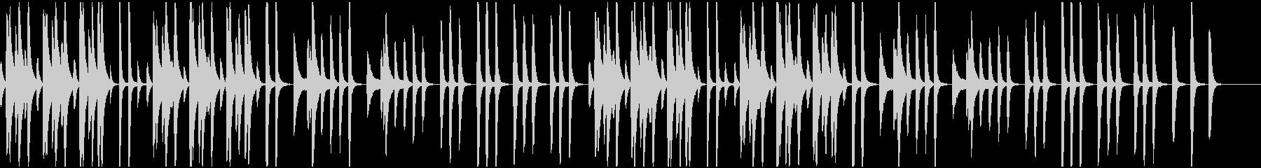 動物/ピアノ/まったりした日常BGMの未再生の波形