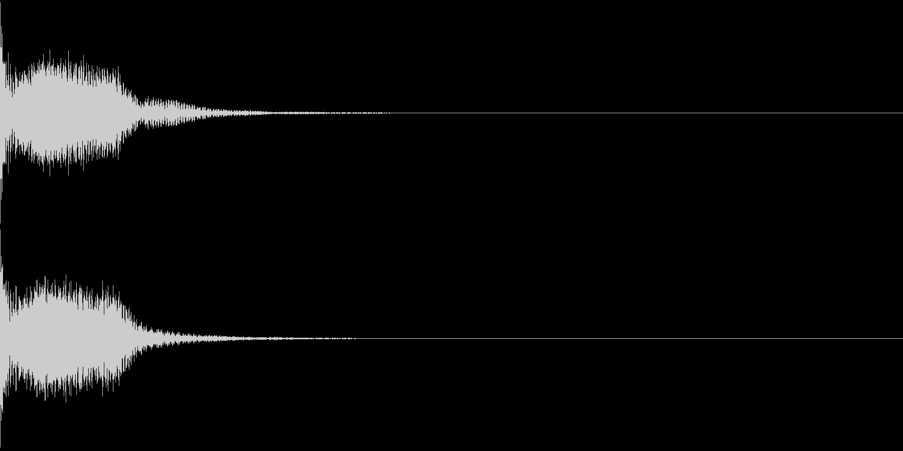 光線銃/ビーム「ビュン」「ビビ」08の未再生の波形