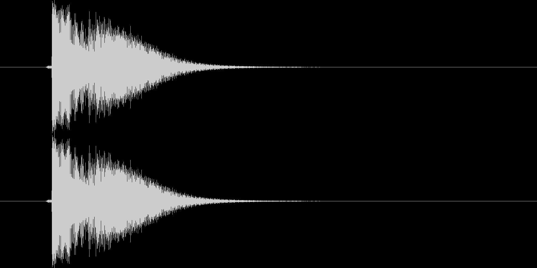 カン!(金属音)の未再生の波形