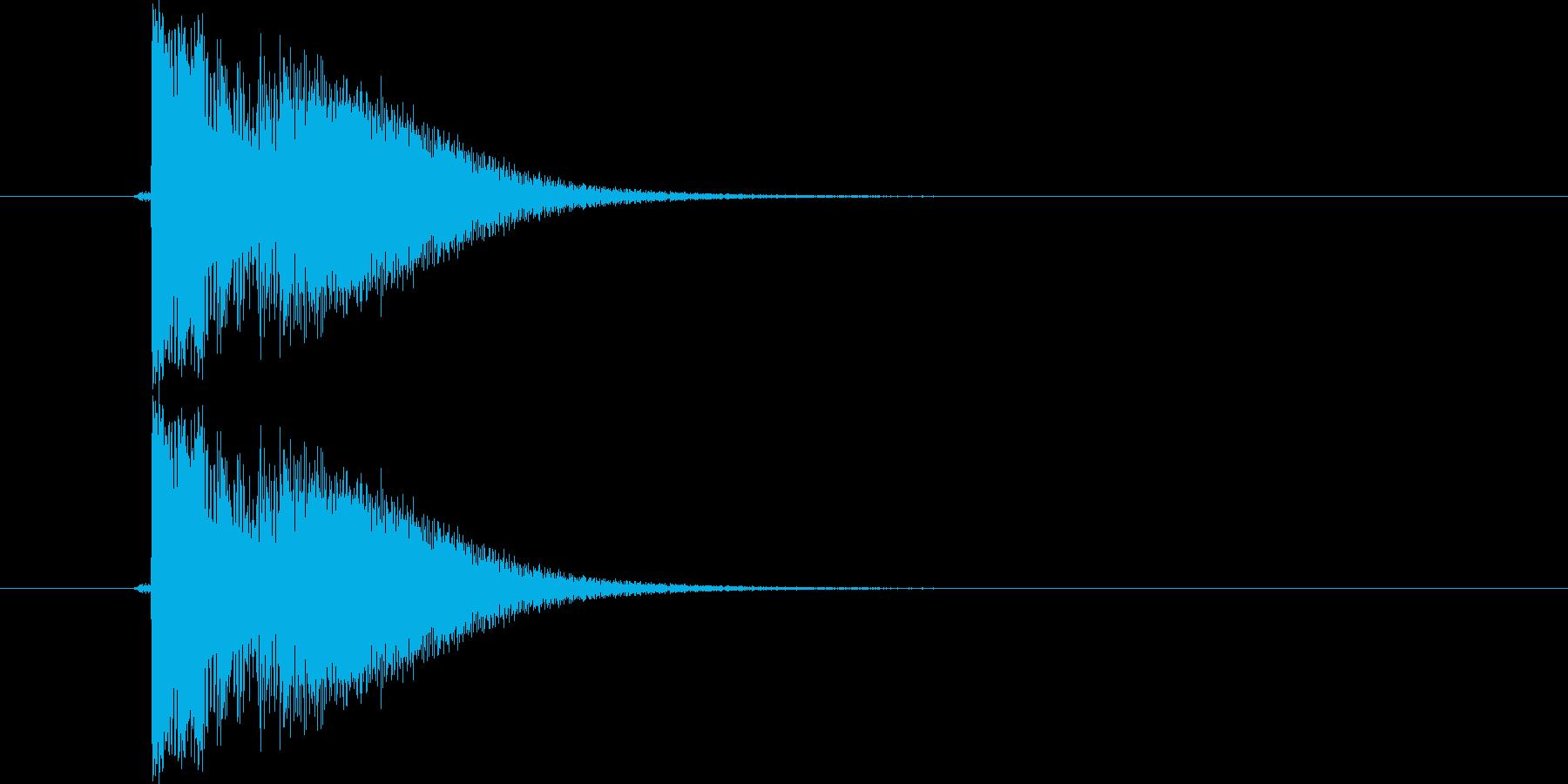 カン!(金属音)の再生済みの波形