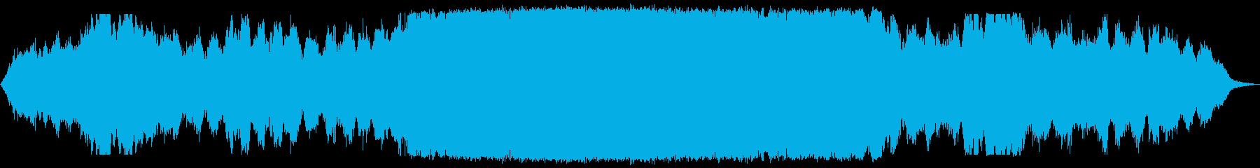 轟音のあるダークアンビエントの再生済みの波形