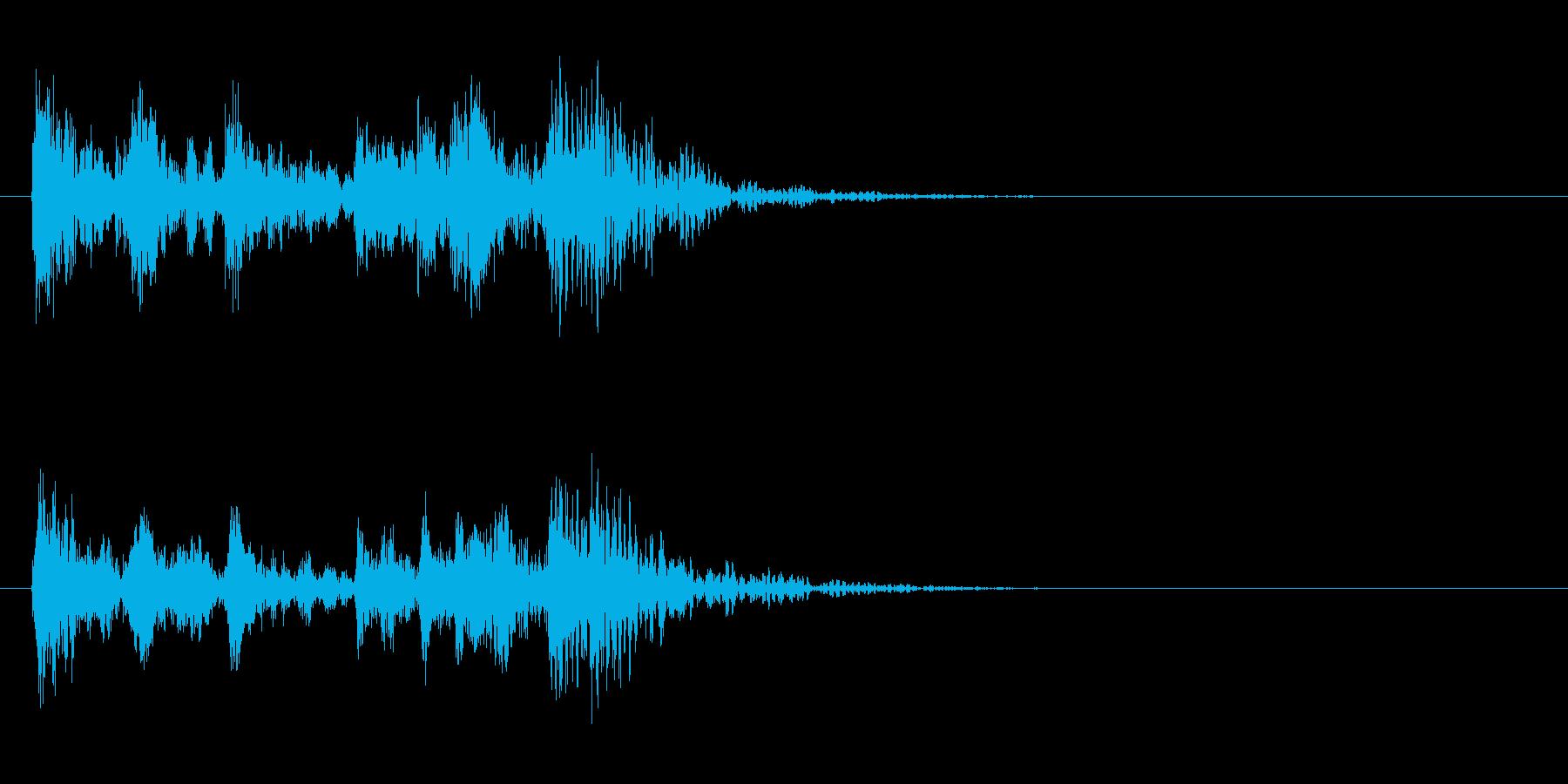 ダン・ダン・ドンドドドン パワフルなSEの再生済みの波形