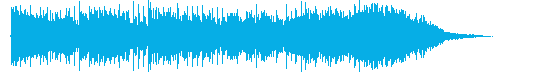 アップテンポで軽快なテクノポップジングルの再生済みの波形