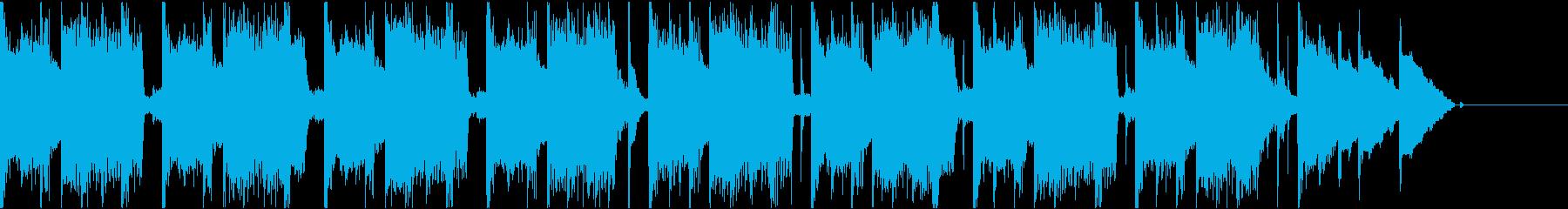 レトロゲームっぽいゲームオーバーBGMの再生済みの波形