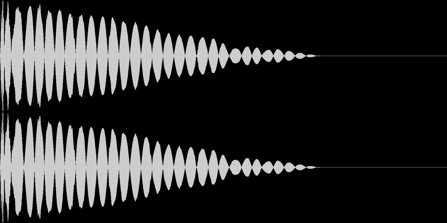 DTM Kick 94 オリジナル音源の未再生の波形