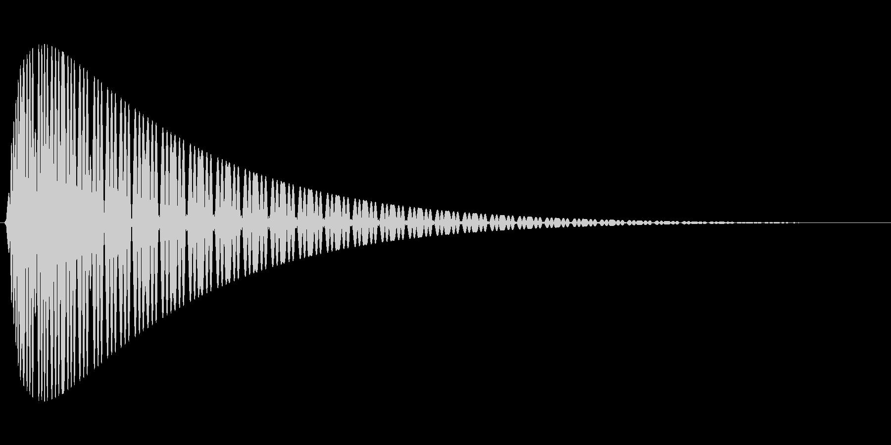ピュゥゥゥの未再生の波形