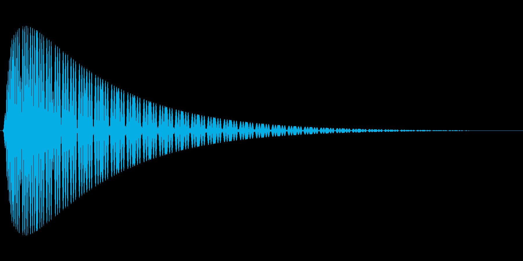 ピュゥゥゥの再生済みの波形
