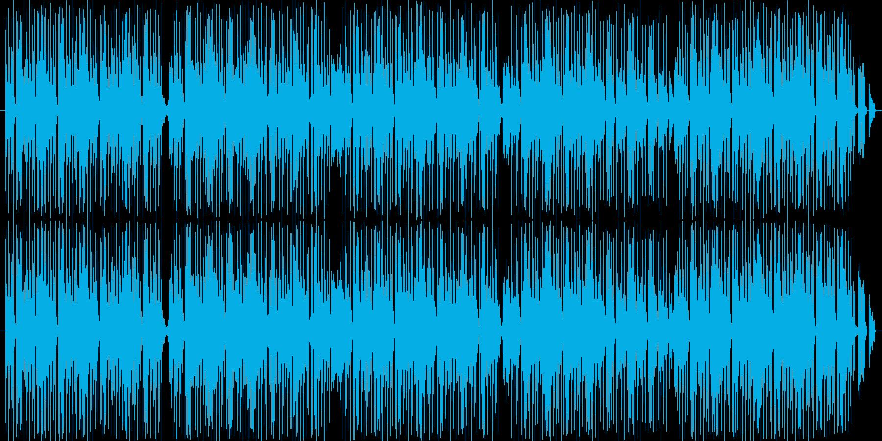 ジャズテイストなR&Bトラックの再生済みの波形