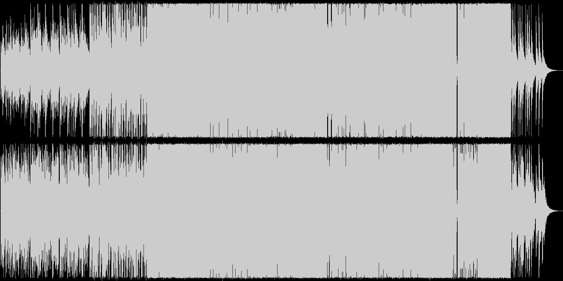 優しいピアノ中心のロックの未再生の波形