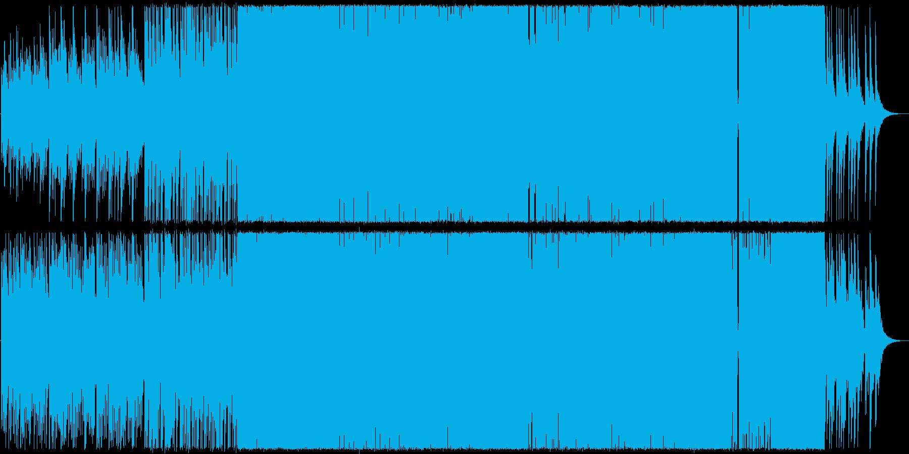 優しいピアノ中心のロックの再生済みの波形