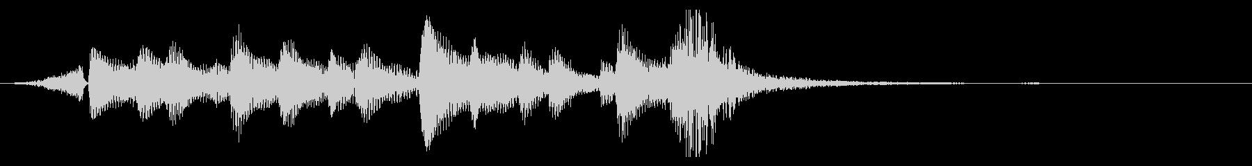 ウクレレの爽やかジングル、サウンドロゴ9の未再生の波形