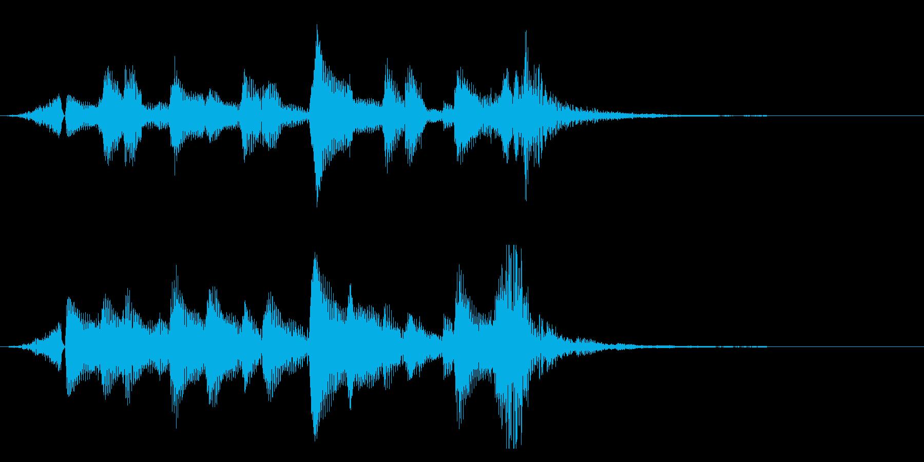 ウクレレの爽やかジングル、サウンドロゴ9の再生済みの波形