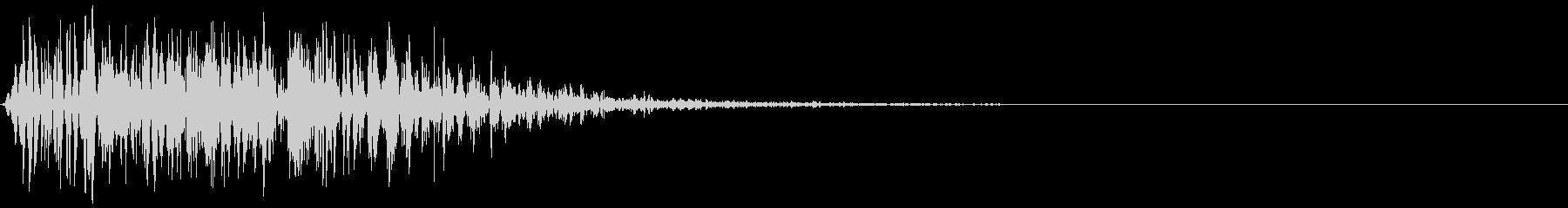 パンチ等の肉体的打撃音のイメージです。の未再生の波形