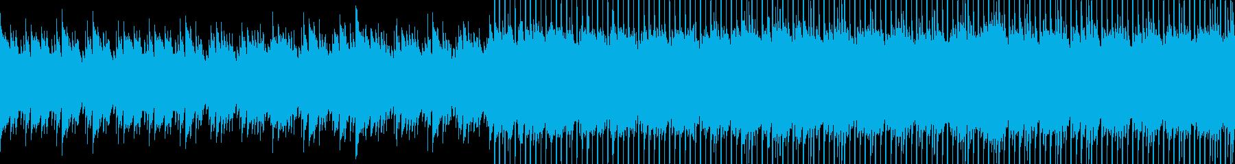 結婚式などの感動的な場面向けループBGMの再生済みの波形