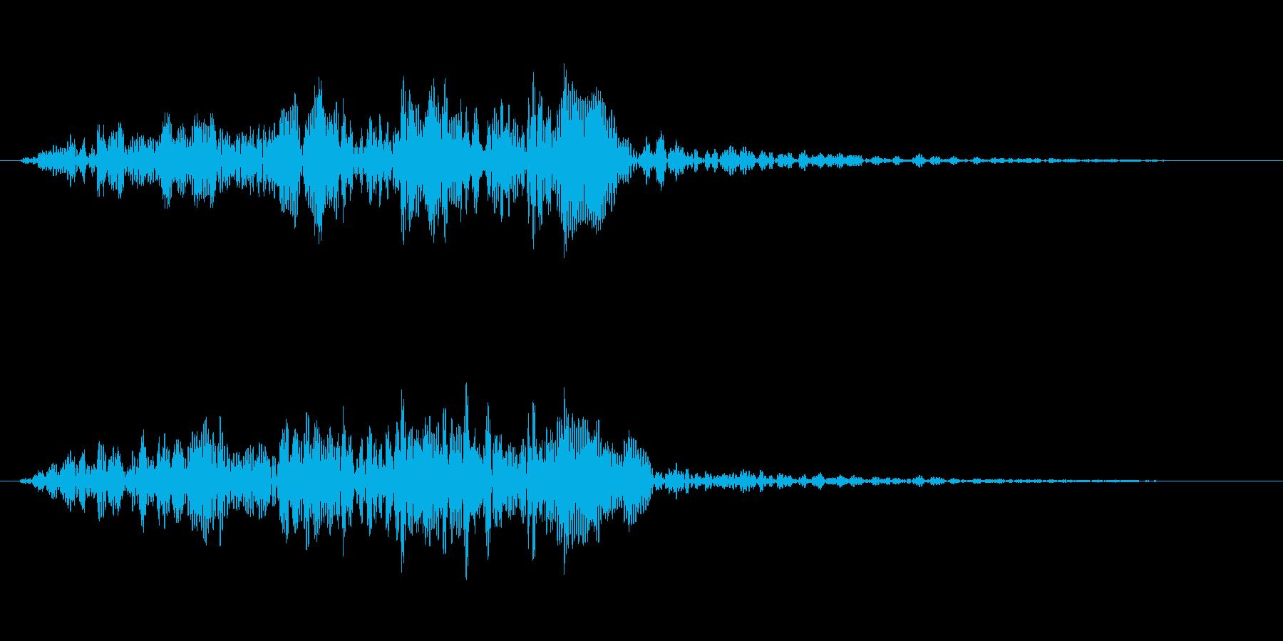「和太鼓の連打」「ドラムロール」の再生済みの波形