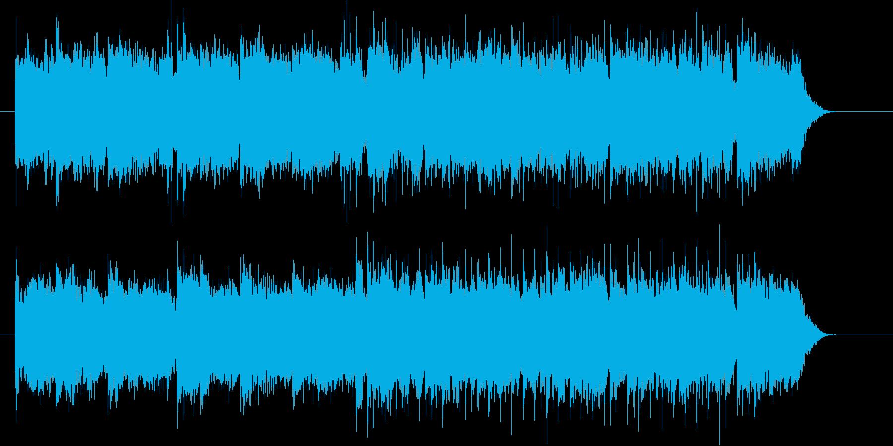 明るいポップスのジングル曲、サウンドロゴの再生済みの波形
