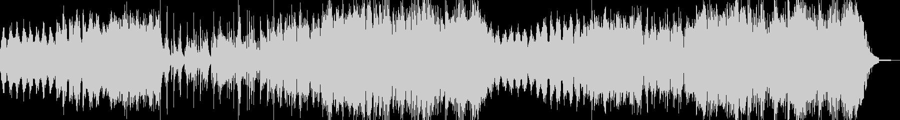 切ないピアノとハープが印象的なワルツの未再生の波形