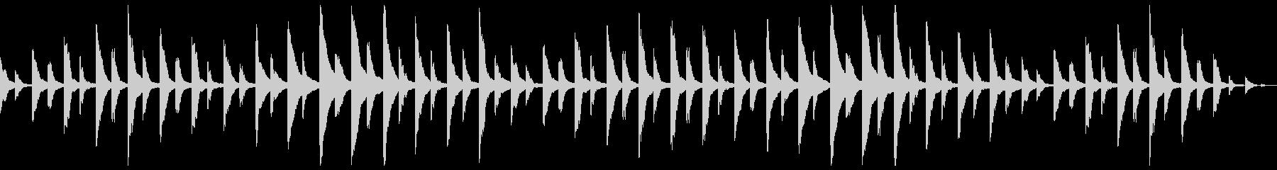 悲嘆な空気を感じさせる曲の未再生の波形
