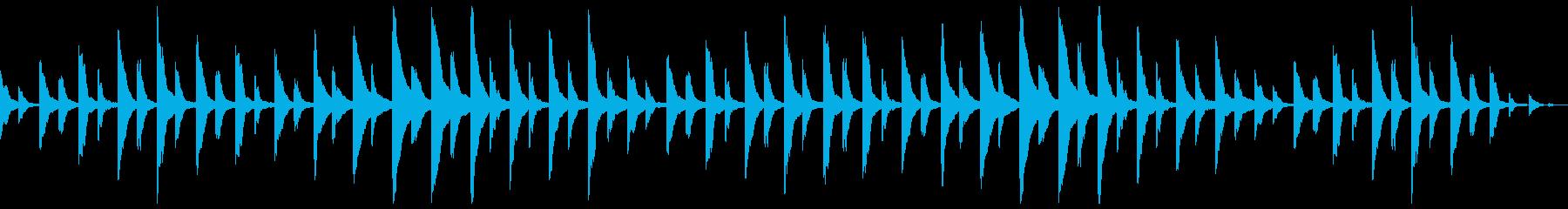 悲嘆な空気を感じさせる曲の再生済みの波形