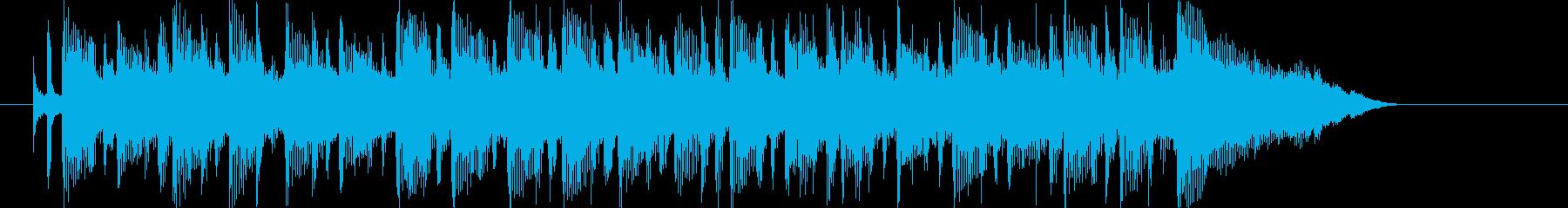 爽やかで落ち着いたポップスのジングル曲の再生済みの波形