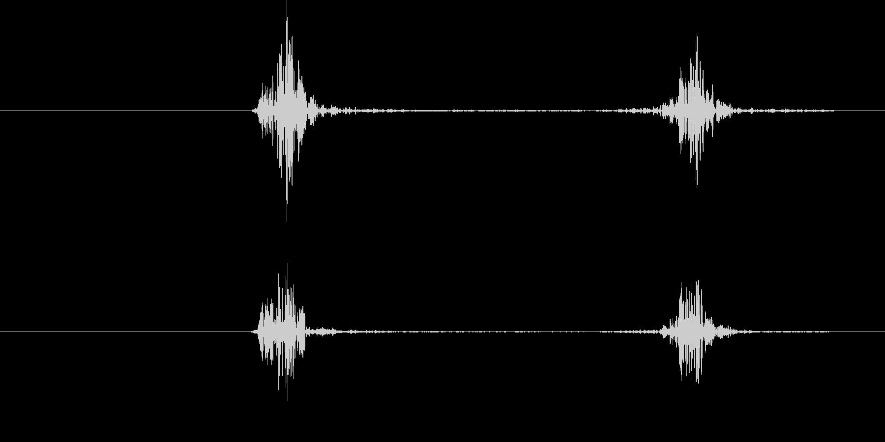 空振り、風切り音3(二連続)の未再生の波形