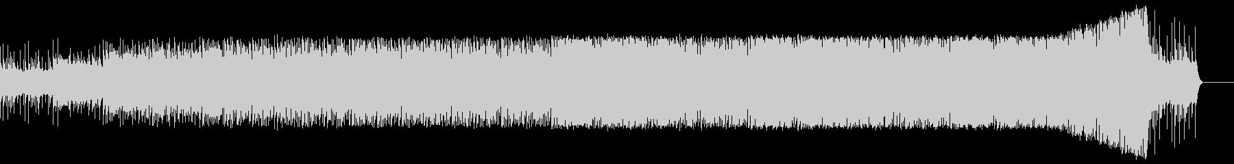 無機質で実験的なミニマル系BGMの未再生の波形
