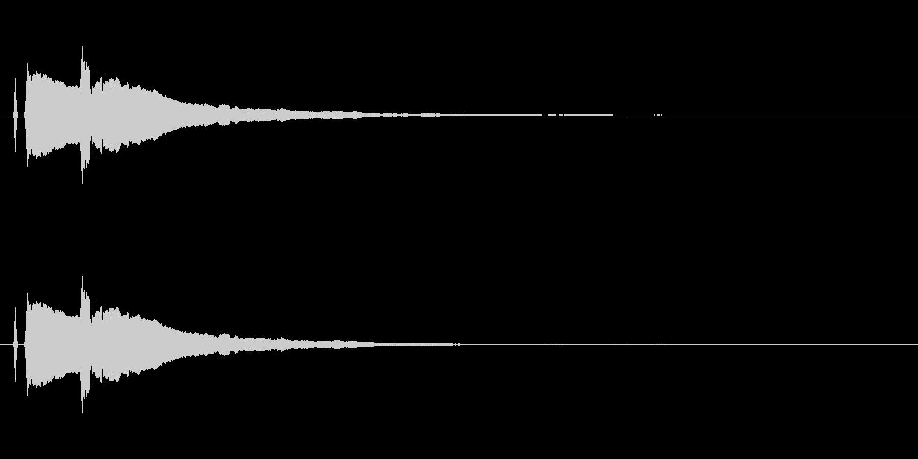 ピアノ。スマホアプリの決定音など。上昇の未再生の波形