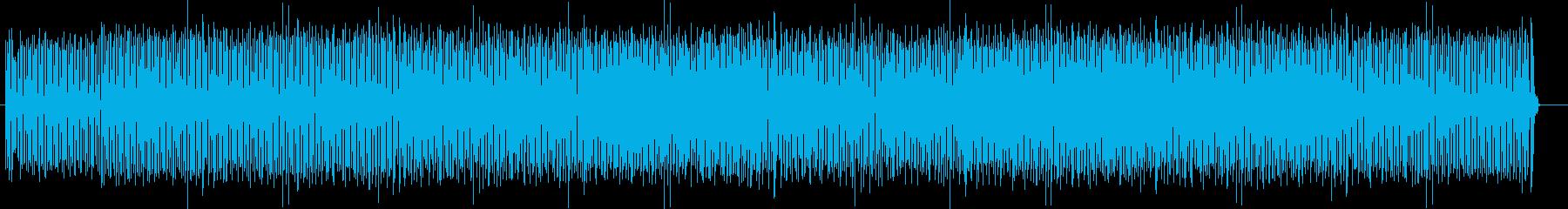 シンセサイザーによるキュートなポップスの再生済みの波形