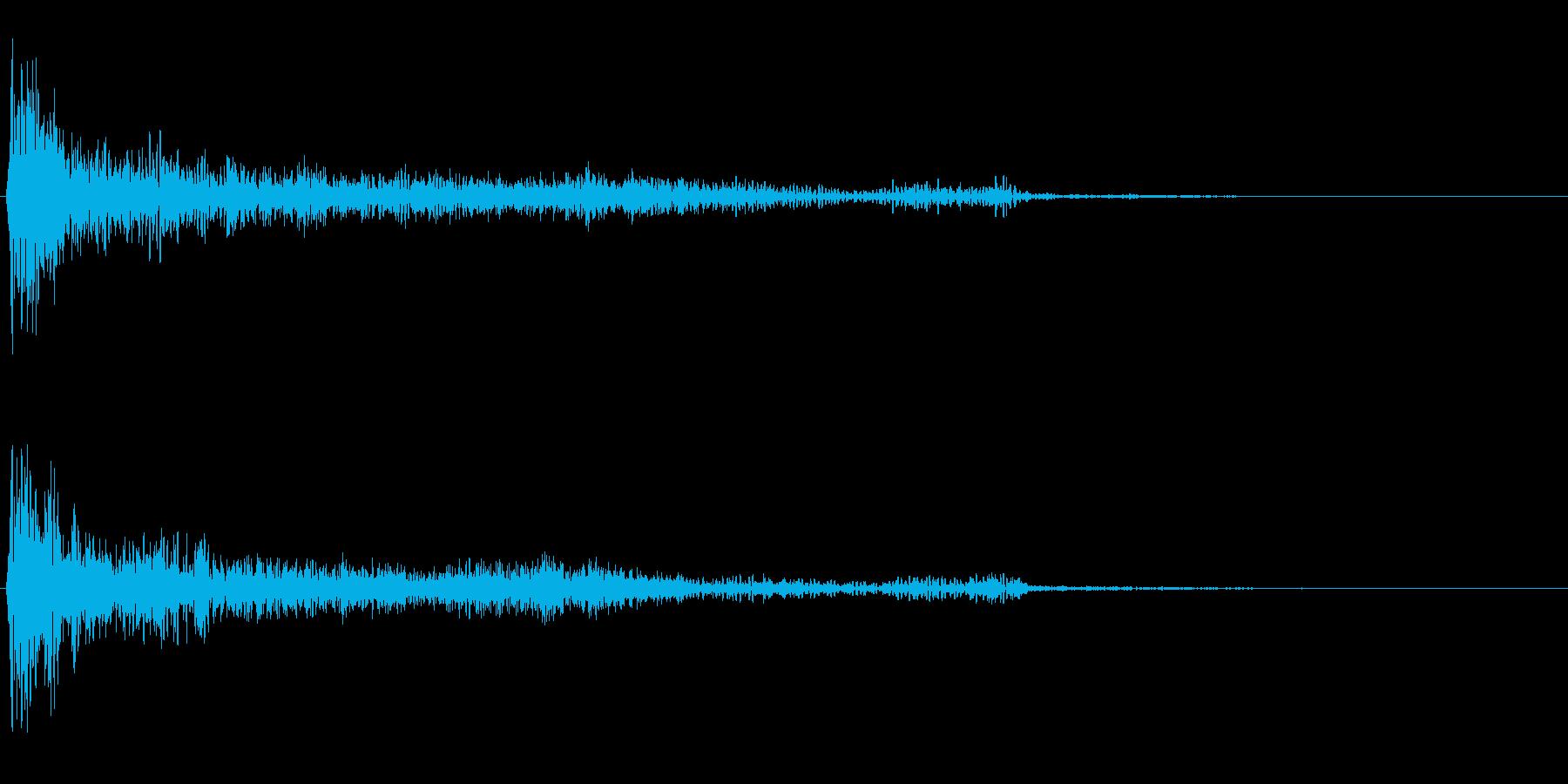 ダーク系決定音「ドーン」の再生済みの波形