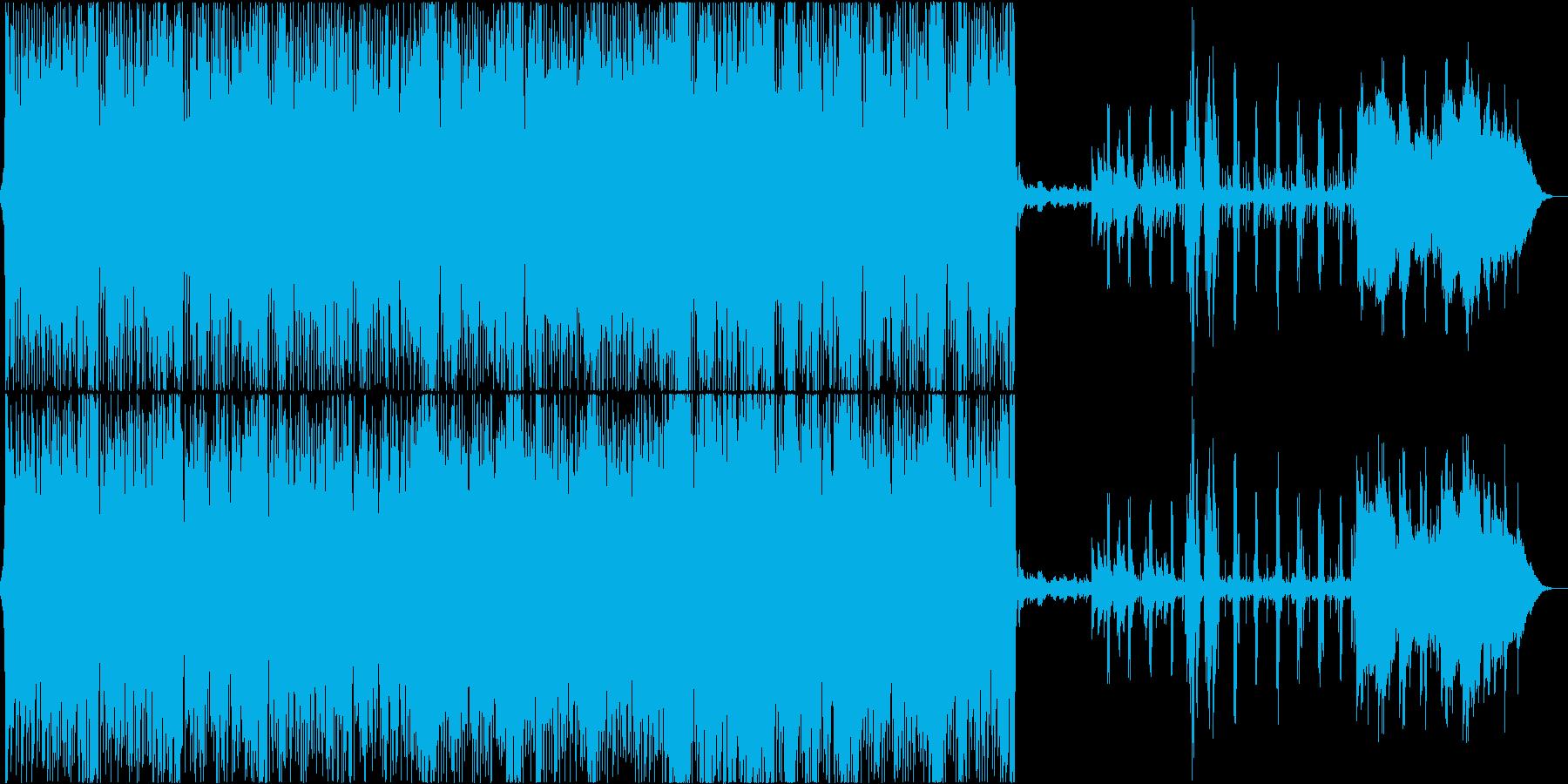 マイナーキーの切なく激しいロックの再生済みの波形