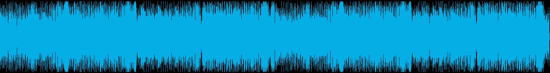 軽快で物悲しいチルウェイブの再生済みの波形