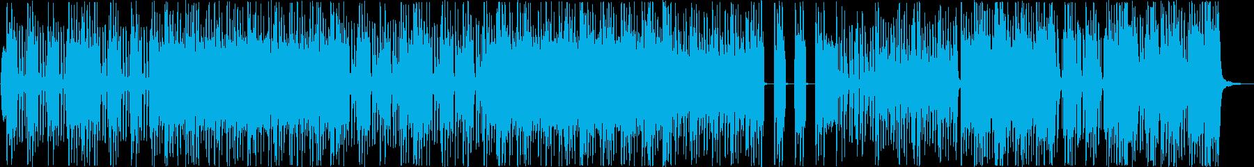 ミクスチャーロック系インストゥルメンタルの再生済みの波形